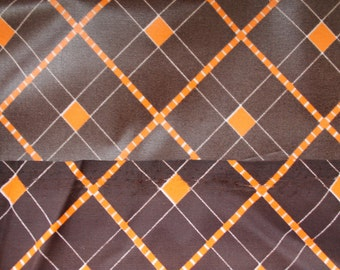Fabric brown and orange