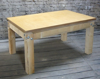 Timber table with high-quality table top