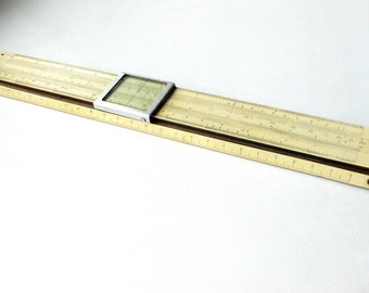 pre war Soviet logarithmic Ruler 1937 year