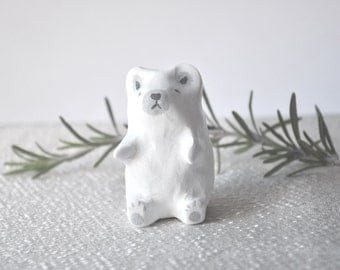 miniature polar bear totem