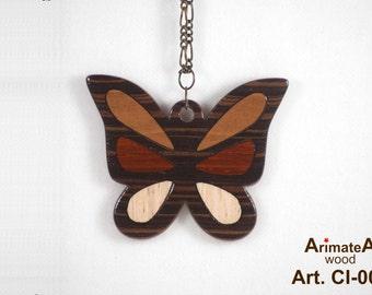 Batterfly-wooden pendant CI-002
