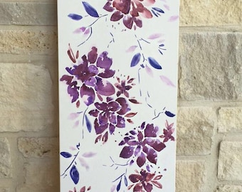 12x36 Floral Canvas Painting