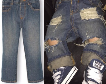 Distressed toddler jeans