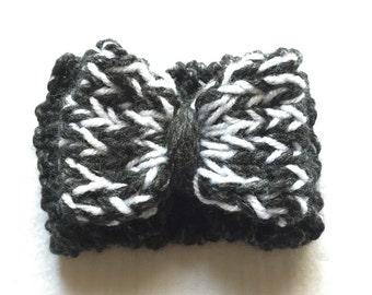 Black, Gray & White Bowband 3 - 6 mos