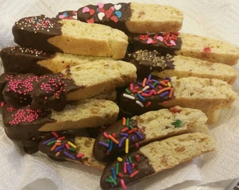 Homemade Candied Fruit & Almond Biscotti - 36 Cookies