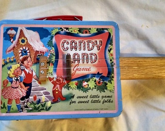 Candy Land Lunch Box 3 String  Guitar Built by Ted Crocker