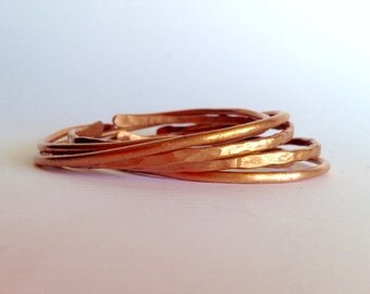 Copper bangle bracelets - free shipping! birthday anniversary bridesmaids gift mother's day Arizona sister unique mom dainty girlfriend