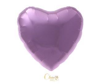 "18"" Pastel Pink Heart Foil Balloon - love balloon - heart balloon - photo props - bridal shower - baby shower - cheersnco"
