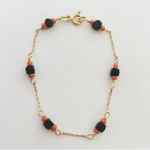14k yellow gold baby azabache bracelet baby azabache and