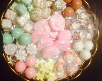 100 Lot Bath Bombs, Assorted Colors Scents, Handmade, Shea & Cocoa Butter Great For Dry Skin