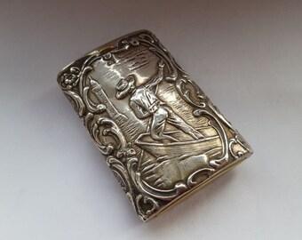 Antique Silver Vesta - Dutch 800 stamped silver