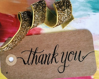 Thank You Gift Tags - Calligraphy Gift Tags - Wedding Gift Tags - Wedding Thank You - Gift Bag Thank You - Party Thank You - Favors
