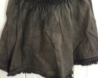 Gray/Grey Braided Denim Skirt Size 6-8