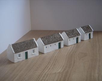 4 Miniature Irish farm buildings made in Ireland. Traditional farm building