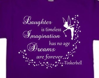 Tinkerbell T-Shirt  - Laughter/Imagination/Dreams