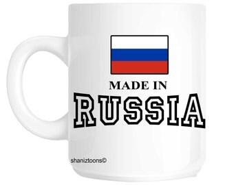 Made Born In Russia Birthday Gift Mug shan624