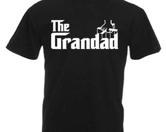 Grandad Mens Adults Black T Shirt Sizes From Small - 3XL