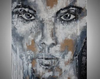 "artLigne...XXXXL...78"" x 59""...big size....portrait...black..white..contemporary art..."