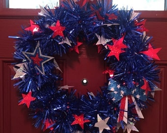 Blue patriotic garland