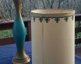 Mid Century Atomic Table Lamp And Original Shade Mod Retro Original 1950's