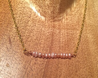"19.5"" Gold Chain with Fresh Water Pearls"
