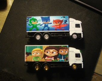 P J Kids and alter ego PJ Masks ( just one truck)-Various Colors