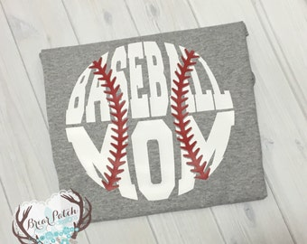 Baseball Mom Vinyl Shirt, Mom Baseball Shirt, Baseball Shirt