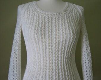 White 100% cotton sweater