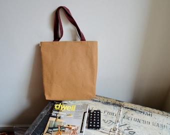 Washable Kraft Paper Tote Bag/ Hand Bag - Environmental friendly