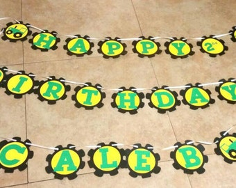 John Deere Themed  birthday banner , Tractor themed birthday banner , John Deer sign