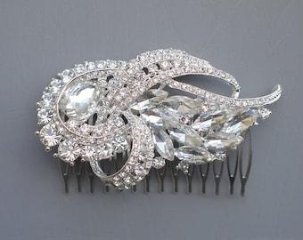 Bridal Hair Comb, Crystals Hair Comb, Rhinestone Comb, Silver Wedding Comb,Bridal Crystal Comb, Wedding Crystal Hair Comb, Hair Comb