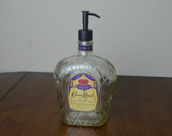 REAL METAL Soap Dispenser - Crown Royal Dispenser - Lotion Dispenser - Christmas Gift - Home Decor - Under 25 - Holiday Gift