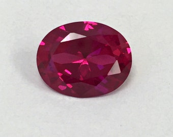 Ruby Rose. Lab Created Corundum Swiss. Oval 10x8 mm. 3 ct.