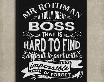 Personalized Mentor Gift Gift For Boss Gift for Colleague