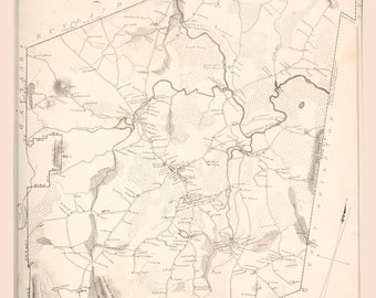1832 Map of Holden Massachusetts