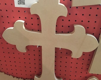"20"" Unfinished Wood Cross"