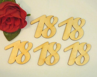 5 wooden figures height 50 mm for anniversary birthday anniversary, wood number numbers wood birthday number save birthday