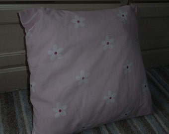 lovely pale pink shabby chic handmade brand new cushion