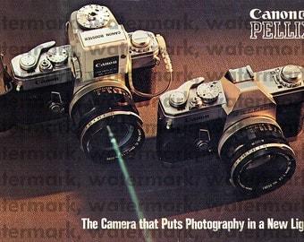Vintage Advertising - Japan - 1965 - Canon Pellix