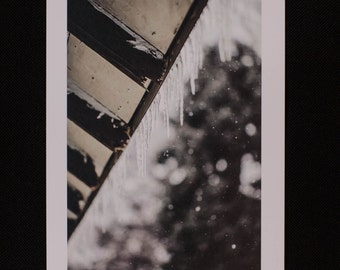 "5x7 Flat Card ""Icicles"""
