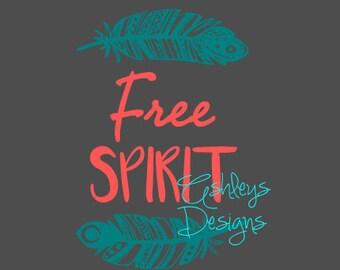 Free Spirit Feather SVG File