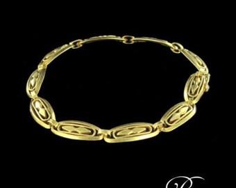 Former bracelet in 18 K Gold lace pattern antique jewelry