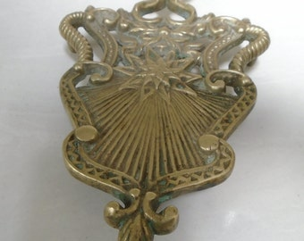 Mid-Century, Vintage, American-Made Brass Trivet - Heavy Brass - 8 3/4 Inches long - 5 3/4 inches tall