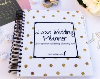 Wedding Planner, Gold & Black, 196 Pages