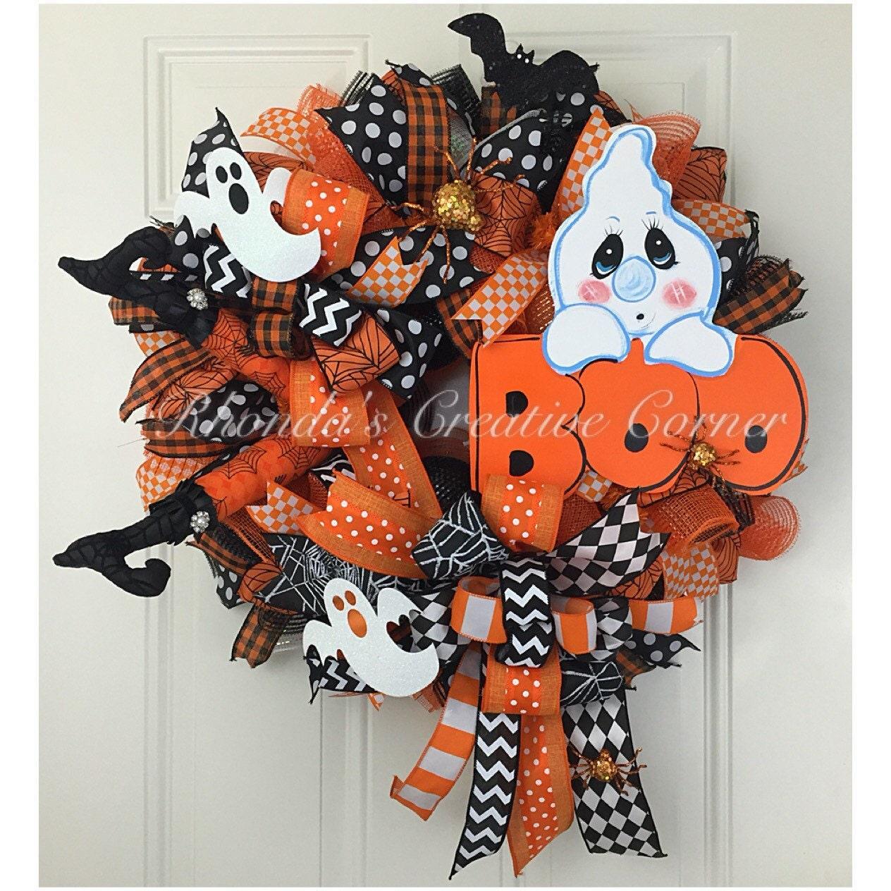 Halloween Deco Mesh Wreath Halloween Wreath October 31st