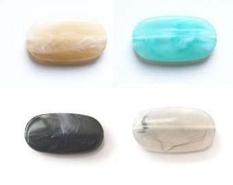 Perla bead oval 29x16mm available in 7 colours - Prettypretty Beads UK