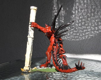 Diablo. 25cm wide x 30cm tall.  Handmade.