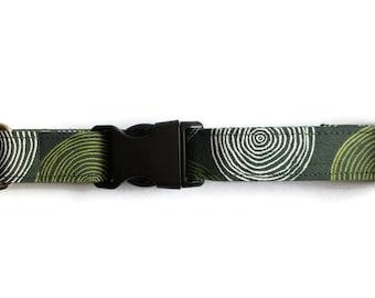 Dog collar Green Circles