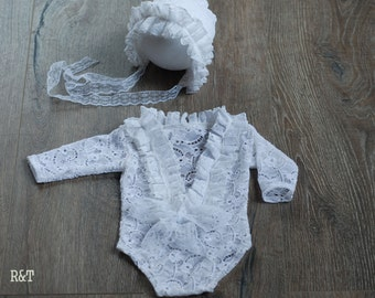 Newborn lace,  lace romper,  new romper,  photography prop lace, newborn girl,  ready to ship