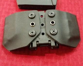Kydex Double Mag Holder on Tek-Lok